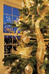ribbons on tree