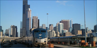 Amtrak Chicago, train ride