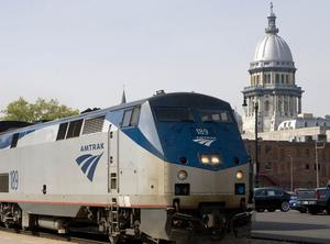 Amtrak Springfield, train ride