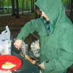 Erin camping cooking