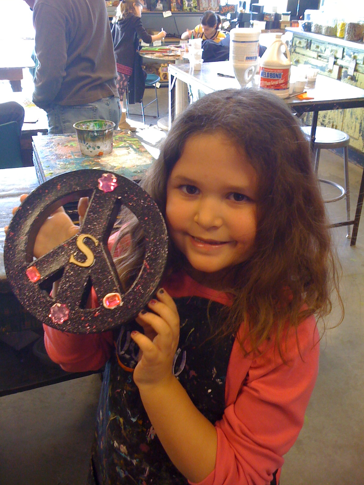girl-indoor fun-craft-art-project