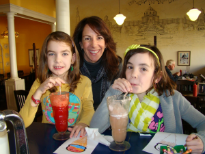 Kim and girls soda shop St. Louis 2012