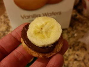 banana and nutella snack
