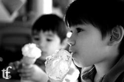 ice cream bw home