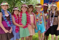 Luau Birthday Party Girls