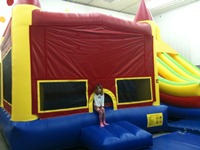 gymnastics, party, birthday, bounce house
