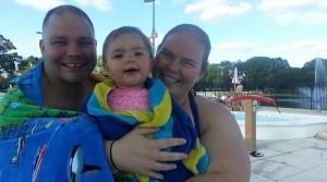 summer pool family