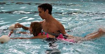 swim lesson at the Y