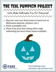 teal pumpkin halloween